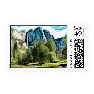 Yosemite Valley painting Postage