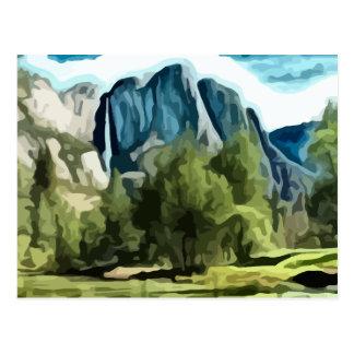 Yosemite Valley painting Postcard