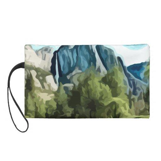 Yosemite Valley painting Wristlet Clutch