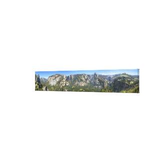 Yosemite Valley Panorama - Yosemite Canvas Print