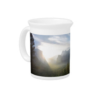 Yosemite Valley Sunrise from Inspiration Point Drink Pitcher