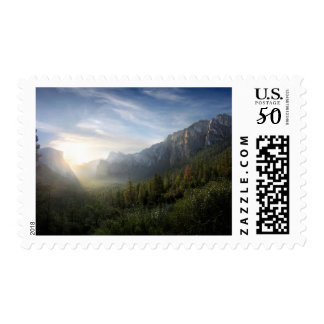 Yosemite Valley Sunrise from Inspiration Point Postage
