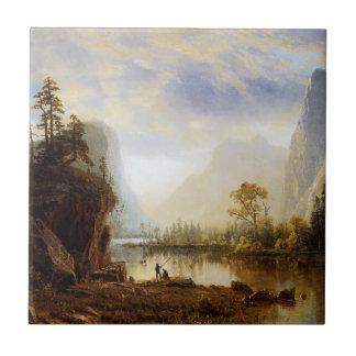 Yosemite Valley Small Square Tile