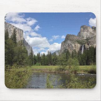 Yosemite Valley Waterfall Mouse Pad
