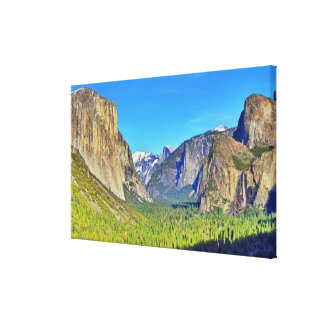 Yosemite Valley Wrapped Canvas Print