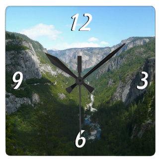 Yosemite Valley, Yosemite National Park Square Wall Clocks