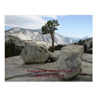 Yosemite, viaje unido del turismo del vintage del postales