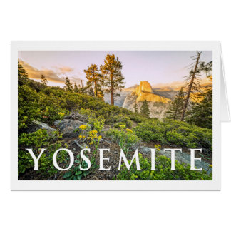 YOSEMITE View from Glacier Point Card