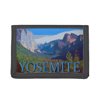 Yosemite View with Text Tri-fold Wallet