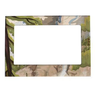 Yosemite Vintage Poster Magnetic Photo Frame