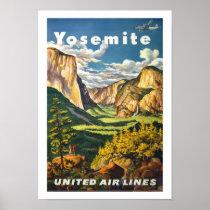 Yosemite Vintage Travel Poster