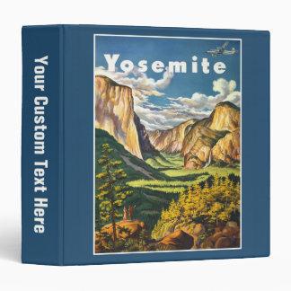 Yosemite Vintage Travel Poster custom binders
