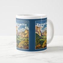 Yosemite Vintage Travel Poster mugs