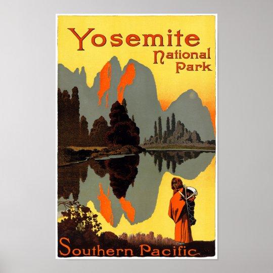 Vintage Voyage Yosemite Yosemite Poster Travel Poster: Yosemite Vintage Travel Poster Restored