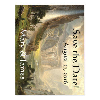 Yosemite Waterfall Vista Save the Date Postcard