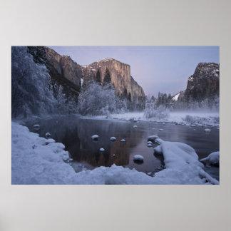 Yosemite Winter Landscape Poster