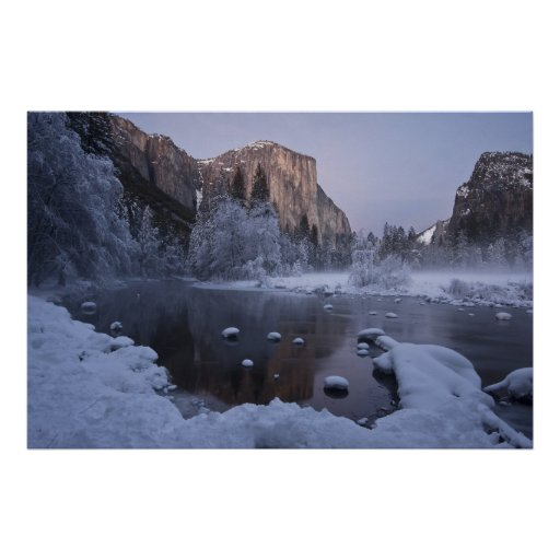 Yosemite Winter Landscape Poster