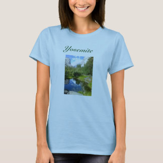 Yosemite Womans T Shirt with lake image