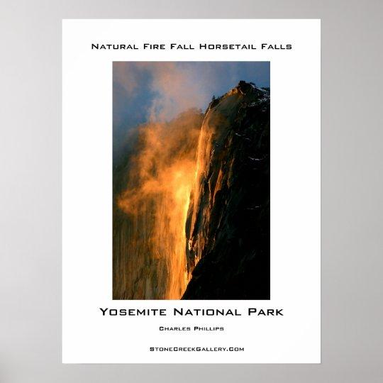 Yosemite's Natural Fire Fall Poster