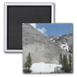 Yosemite's Snowy Granite Domes Magnet