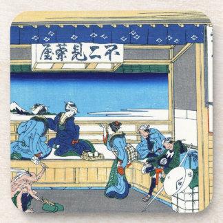 Yoshida at Tokaido Katsushika Hokusai Fuji Drink Coaster