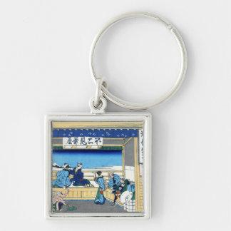 Yoshida at Tokaido Katsushika Hokusai Fuji Keychain