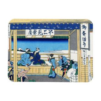Yoshida at Tokaido Katsushika Hokusai Fuji Magnet