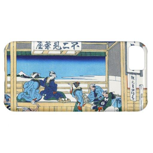 Yoshida en Tokaido Katsushika Hokusai Fuji Funda Para iPhone 5C