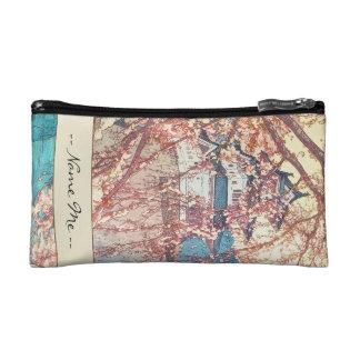 Yoshida Hiroshi Hirosaki Castle japan shin hanga Makeup Bags
