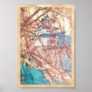 Yoshida Hiroshi Hirosaki Castle japan shin hanga Print