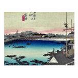 Yoshida por Ando, Hiroshige Ukiyoe Postal