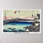 Yoshida por Ando, Hiroshige Ukiyoe Posters
