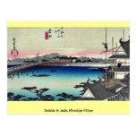 Yoshida por Ando, Hiroshige Ukiyoe Tarjetas Postales