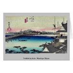 Yoshida por Ando, Hiroshige Ukiyoe Tarjetas