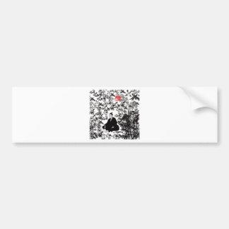 Yoshida Shoin and bird Car Bumper Sticker