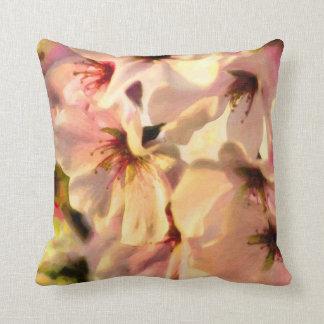 Yoshino Cherry Blossoms Throw Pillow