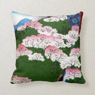 Yoshino Mountain in Yamato Province(大和よし野山) Throw Pillow