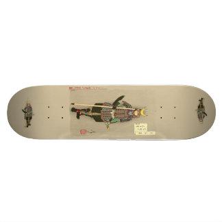 Yoshitoshi - War Helmet with Third Day Moon  Skate Skateboard