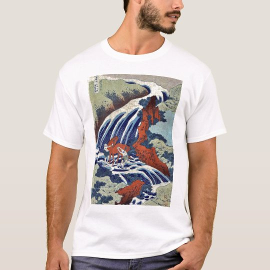 Yoshitsune Umarai waterfall by Katsushika,Hokusai T-Shirt