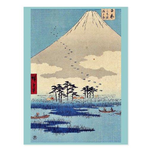 Yoshiwara por Ando, Hiroshige Ukiyoe Postal