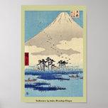 Yoshiwara por Ando, Hiroshige Ukiyoe Póster