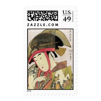 Yoshiwara suzume, Utamaro Postage