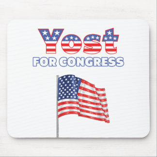 Yost for Congress Patriotic American Flag Design Mouse Pad
