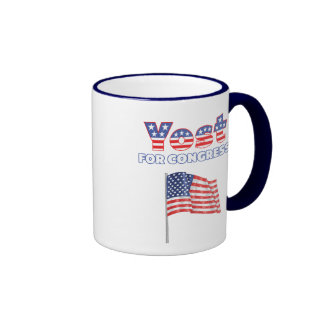 Yost for Congress Patriotic American Flag Design Ringer Mug