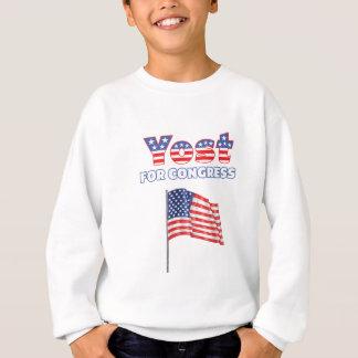 Yost for Congress Patriotic American Flag Design Sweatshirt