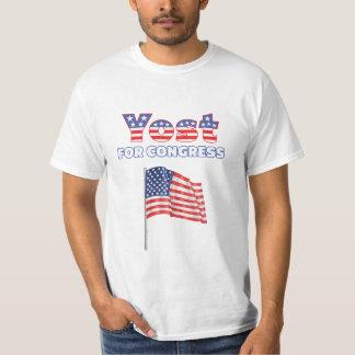 Yost for Congress Patriotic American Flag Design T-Shirt