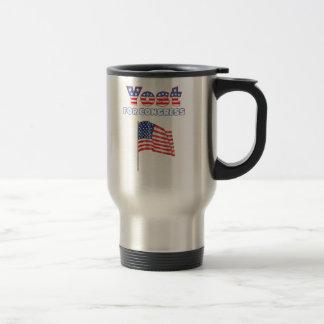 Yost para el diseño patriótico de la bandera ameri tazas de café