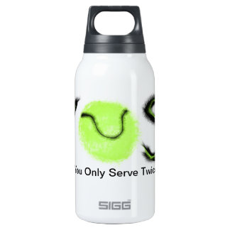 YOST You only serve twice tennis items Insulated Water Bottle