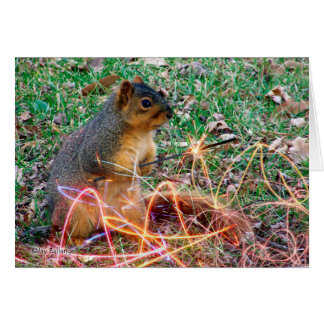 You Add Sparkle to My Life, Squirrel with Sparkler Card