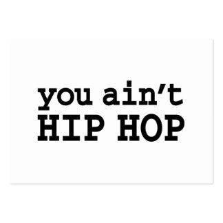 you ain't HIP HOP Business Card Template